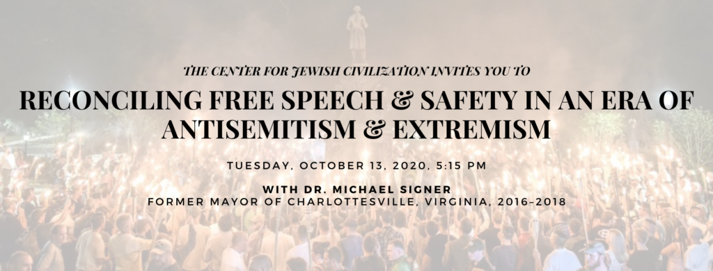 """RSVP to the CJC's """"Reconciling Free Speech & Safety In An Era of Antisemitism & Extremism"""" by visiting the """"Event's"""" section of our page and clicking the Eventbrite link, at cjcsigner2020.eventbrite.com!"""