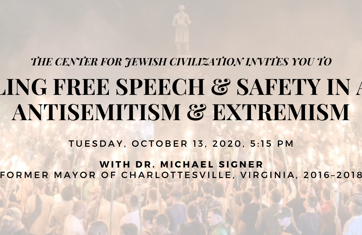 "RSVP to the CJC's ""Reconciling Free Speech & Safety In An Era of Antisemitism & Extremism"" by visiting the ""Event's"" section of our page and clicking the Eventbrite link, at cjcsigner2020.eventbrite.com!"