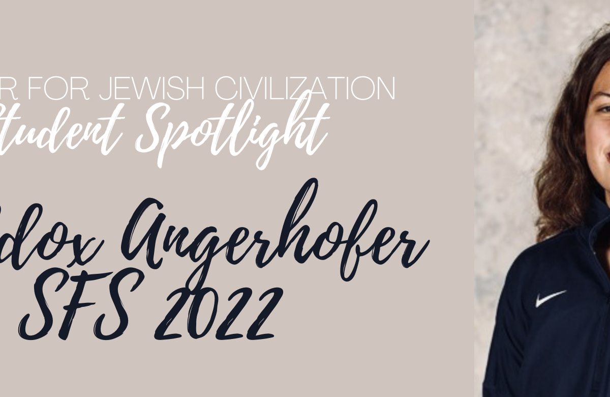 Student Spotlight: Maddox Angerhofer, SFS '22